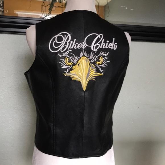 543712fcf7aa Leather U.S.A. Jackets   Blazers - USA leather  Biker Chick  leather vesp